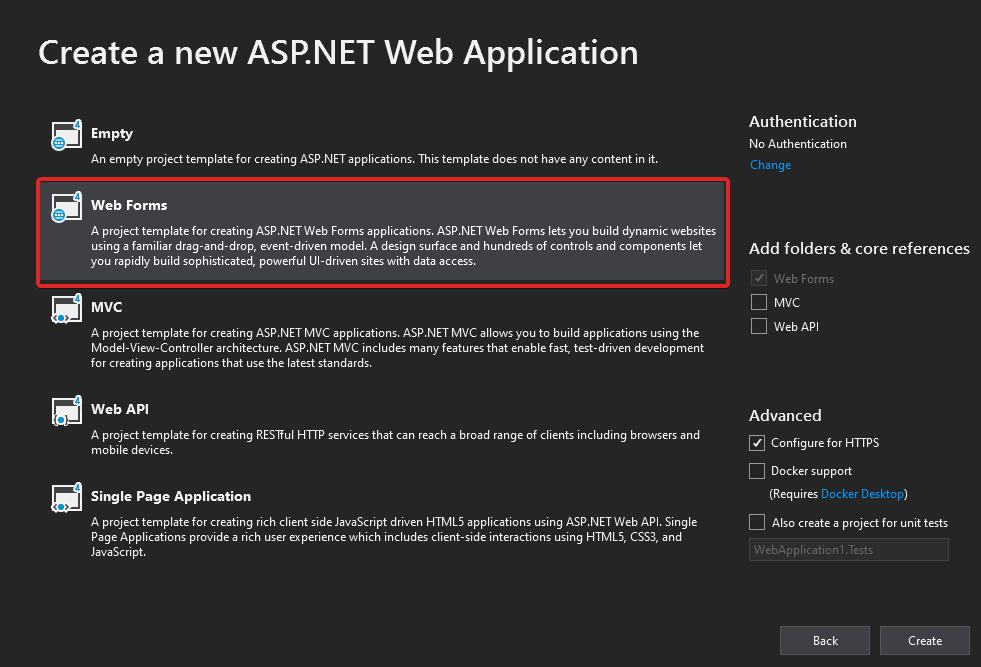 Visual-Studio-2019-ASP.NET-Web-Application-Project