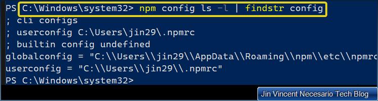 Setup a default NPM global settings for new projects figure 1.